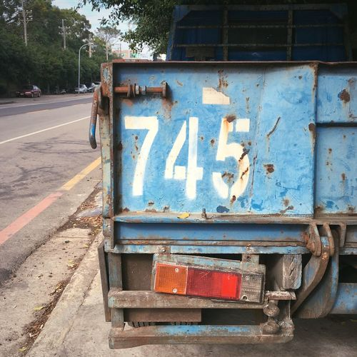 Day Outdoors No People Communication Text Close-up Truck 745 Taiwan Taichung