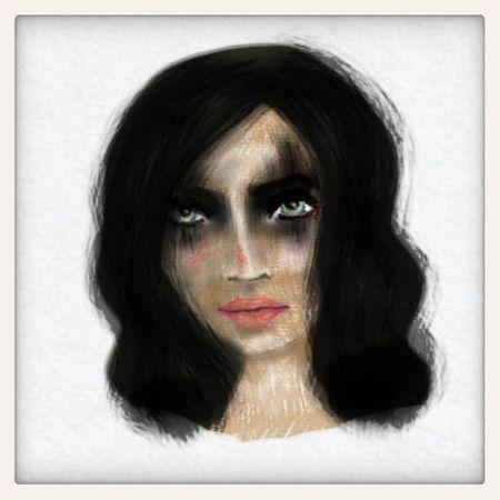 """Destroy"" Drawing Portrait Digital Art"