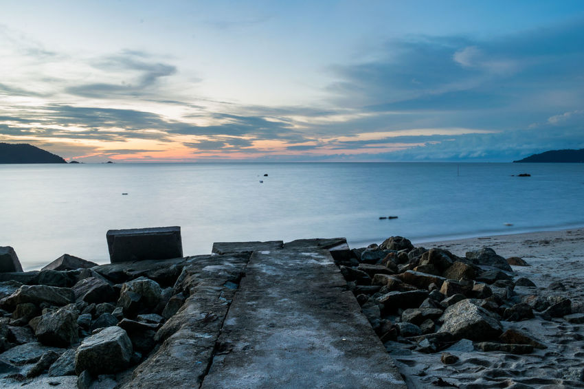 Beach Beauty In Nature Horizon Over Water Landscape Lightroom Nature Naturevibes Outdoors Photography Scenics Sea Sky Sunset Tranquility Water