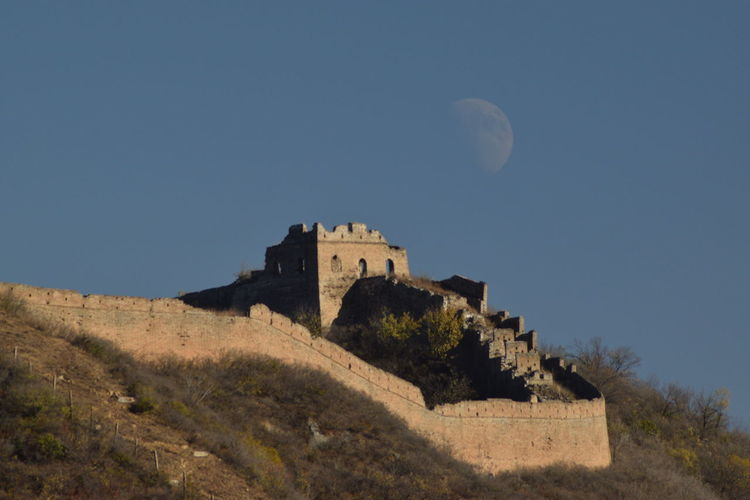 EyeEmNewHere The Great Wall The Great Wall Of China The Moon Collection History Architecture Moon Outdoors Nature The Great Outdoors - 2016 EyeEm Awards Travel Destinations Castle Fort Built Structure Building Exterior Ancient Day No People Sky News Event Be. Ready.