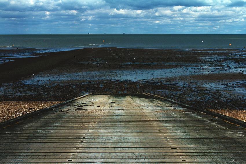 Beach Beachphotography Beauty In Nature Boardwalk Calm Cloud Cloud - Sky England Horizon Over Water Nature Non-urban Scene Ocean Scenics Sea Shore Sky Summer Tide Tourism Tranquil Scene Tranquility Travel Destinations Water Wood - Material