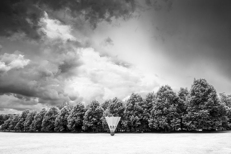 Art Museum Badminton Beauty In Nature Cloud - Sky Day Infrared Kansas City Nature Outdoors Scenics Shuttlecock Sky Tranquility Tree