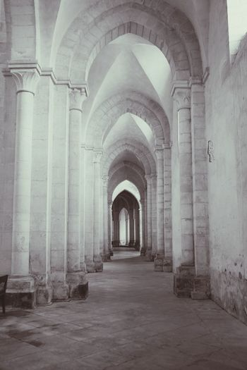 Arch Architectural Column Architecture Corridor Built Structure History Indoors  No People Ancient Monasteries Church Architecture