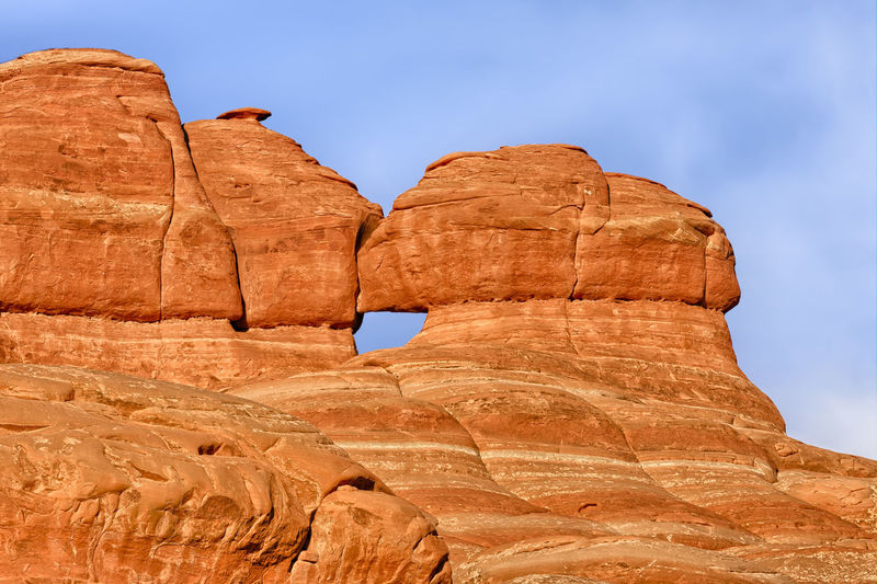 Window in rockwall, Windows Section, Arches National Park, Utah, USA America Ancient Arches National Park Bar Barren Desert Dramatic Sky Eroded Hot Layers Natural Natural Beauty Outdoors Rock Rock - Object Rock Formation Sandstone Sculpted Seabed USA Utah Warm Wilderness Window Windows