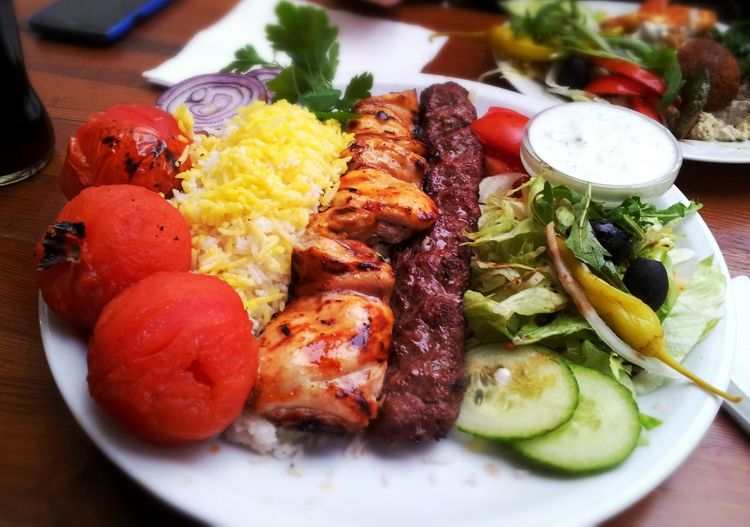 Food Meat Persian Cholo Kabab