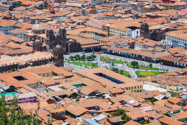 Plaza de Armas from Sacsayhuamán, Cusco Architecture Building Exterior Built Structure Building Residential District High Angle View Roof Aerial View City House Town Cityscape Environment Day Landscape Nature TOWNSCAPE Outdoors Community Peru South Latin Plaza De Armas Plaza De Armas Cusco Travel