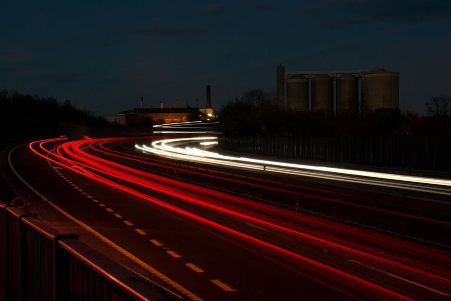 High Way Light Light Trail Light Trails Long Exposure Long Exposure Night Photography Long Exposure Photography Long Exposure Shot Motion Motor Way Night Outdoors Red Road Speed Speedway