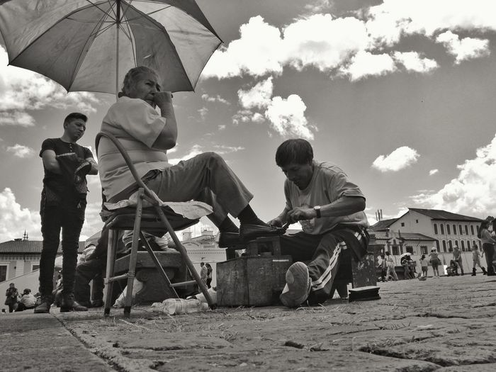 Archival Real People Men Day Outdoors Adult People Adults Only Sky Blackandwhite Ecuador Quito