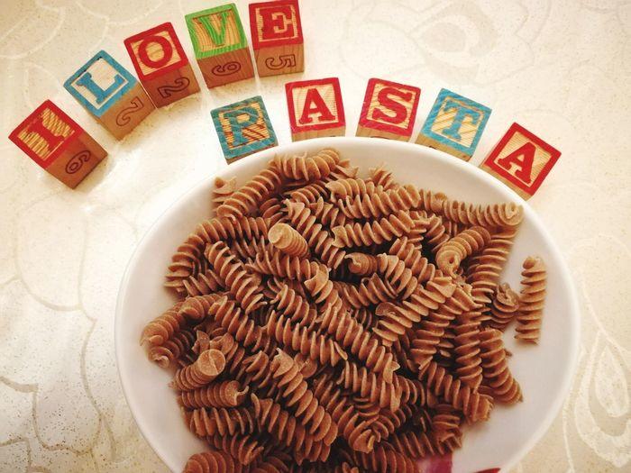 Fusilli Pasta Love Food Italian Food Wholemeal Pasta Indoors  No People Close-up Food Ready-to-eat