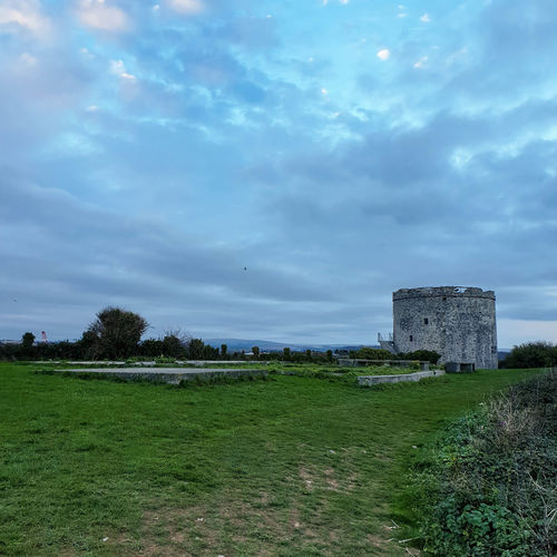 Bird Hill Top United Kingdom Plymouth Uk Great Britain Britain British Twilight Dusk Protection Sky Grass Cloud - Sky Fort Tower History Historic Building Historic Lookout Tower Tall - High