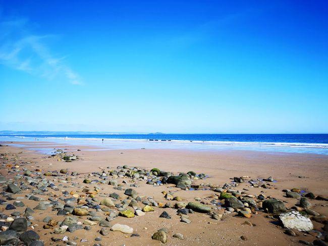 Water Sea Beach Clear Sky Blue Sand Wave Horizon Low Tide Summer