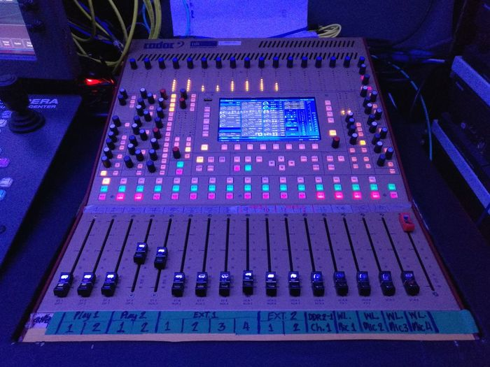Technology Music Indoors  Sound Mixer Close-up Sound Recording Equipment Illuminated Control Panel Blue No People Studio