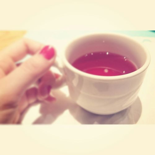 Rose tea~ Relaxing That's Me Cheese! Rose🌹 Tea Smellsgood Rednails
