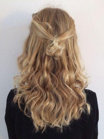 Fresh Hairstyle Blonde Hair Curlsfordays