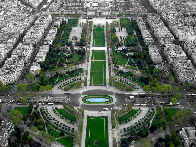 Only green ! ChampsDeMars Eiffel Tower France Paris Tour Eiffel Aerial View Black And White Blackandwhite Champs De Mars Ecole Militaire Eiffel Eiffel_tower  Eiffeltower Frenchgarden Frenchphotographer Green Color IPhone Landscape No People Onlygreen Photographer Photography Roofofparis Rooftopparis Toureiffel