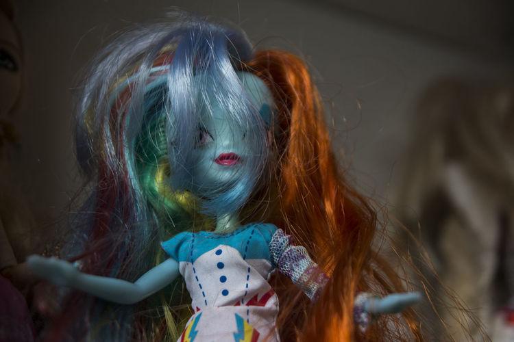 Close-Up Of Doll At Home