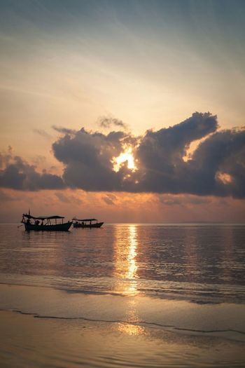Yet another island sunrise... Dramatic Sky Beauty In Nature Sky Nature No People Scenics Vacations Landscape Outdoors Water Sea Nautical Vessel Sunrise Ocean Island Cambodia Koh Rong