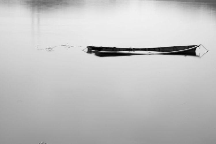 Black & White Black And White Blackandwhite Day Korea No People Reflection Ship Water
