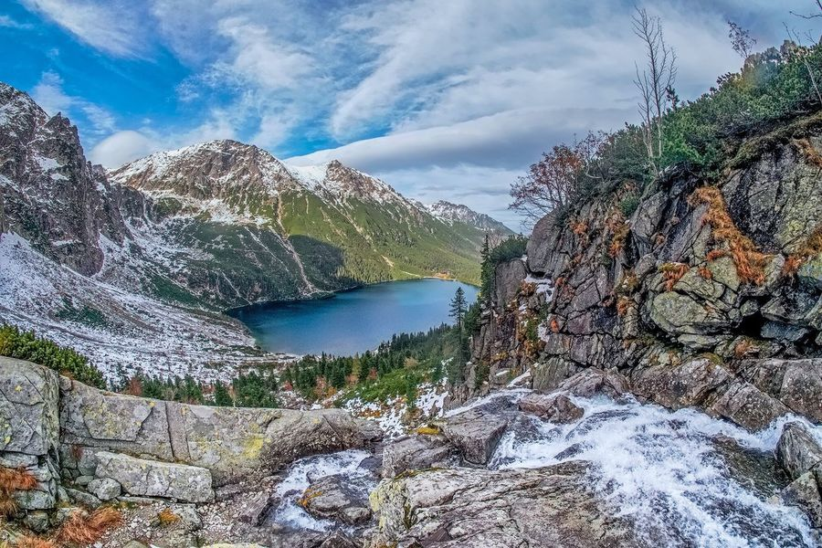 The magnificent morskie oko in the tatra mountains of southern Poland. Morskieoko Tatra Mountains Mountain Beauty In Nature No People Landscape Nature Poland