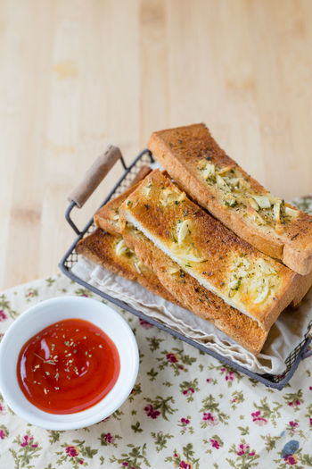 Basket Bread Bread Sticks  Breakfast Close-up Day DIP Food Food And Drink Freshness Garlic Bread Healthy Eating Homemade Indoors  Ketchup No People Plate Ready-to-eat Sandwich SLICE Snack Spread Sweet Food Table Toasted Bread
