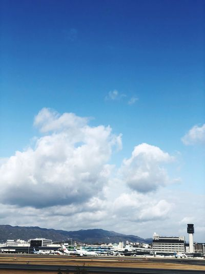 Sky Cloud - Sky Blue Architecture Day Nature Water Sea Travel Built Structure No People Mode Of Transportation Building Exterior Transportation Outdoors Beauty In Nature Copy Space Scenics - Nature Building