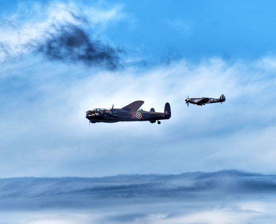 EyeEm Selects Flying Airplane Airshow Speed Cloud - Sky Military Military Airplane Fighter Plane Lancaster Bomber Spitfire EyeEm Best Edits Eye4photography  Eyemarket EyeEmPremiumShot EyeEm Gallery