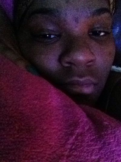Laying down watching tv