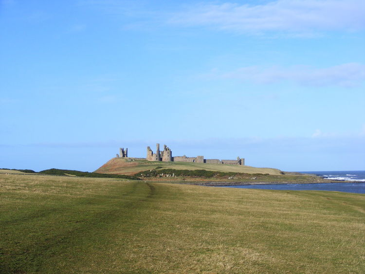 Architecture Beauty In Nature Dunstanburgh Castle Dunstanburghcastle Grass Horizon Over Water Nature North East Coast Northumberland Coastline Scenics Sea Sky Tranquil Scene Water