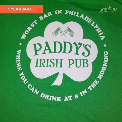 Timehop t shirt of the day again this year Stpatricksday Itsalwayssunnyinphiladelphia Sunny ErinGoBragh