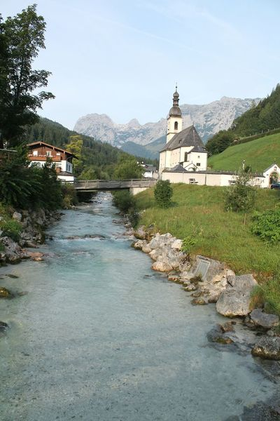 Alp water Bavaria Alps Alps Germany History Water Tradition No People Day Religion Architecture Vacations Travel Destinations Outdoors Nature