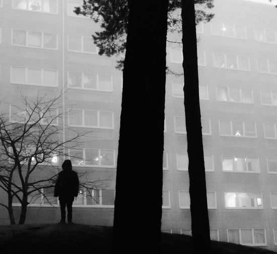 Instagram: @lenn.art031 The Week On EyeEm Hammarkullen Foggy Misty Architecture Ghetto Silhouette Real People Streetphotography Street Urban Urbanphotography Beauty In Nature Bnw_friday_eyeemchallenge Black And White Outdoors Blackandwhite Photography Built Structure Surrealism Real Life Cinematography Composition