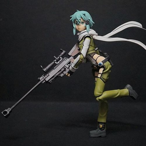 All pose without stand.. Sinon Saoggo Gungaleonline Sao Sao SwordArtOnline Swordartonline2 Figma Xperia_knight
