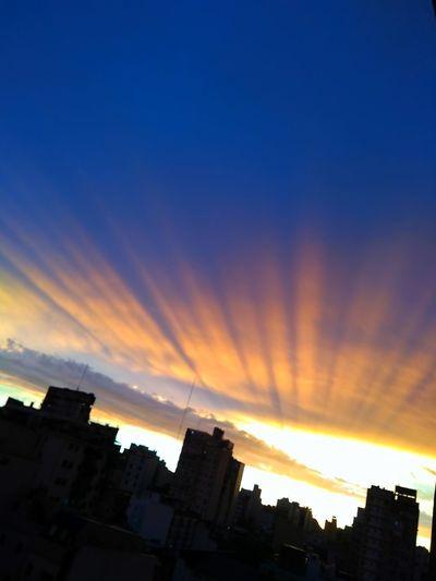 My city 💕 City Sunset Multi Colored Silhouette Sky Architecture Building Exterior Built Structure Cloud - Sky