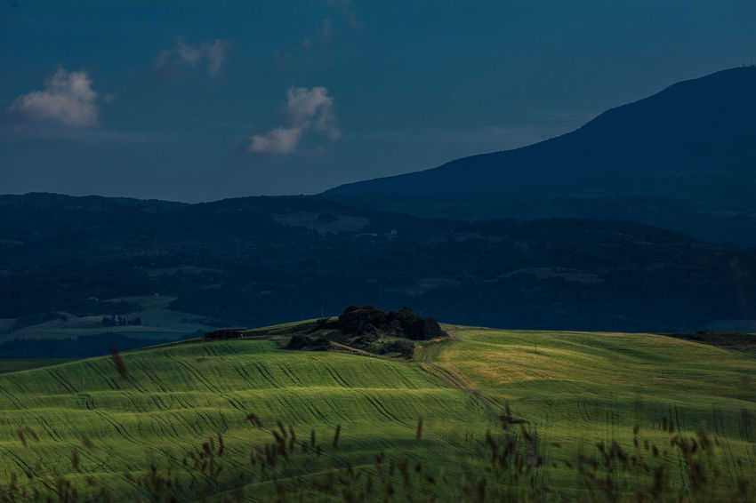 Val D'Orcia, Tuscany, Italy. Travelling through the countryside. Beauty In Nature Countryside Field Hills Hillside Italia Italy Landscape Nature Nature_collection Non-urban Scene Rural Scene Scenics Tranquil Scene Travel Travel Destinations Tuscany Valley