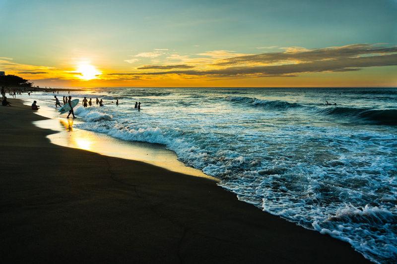 Feels like Summer La Union, Philippines Beach Sunset Blue Sea Water Sunset Beach Low Tide Silhouette Sand Reflection Sky Horizon Over Water Seascape Tide Romantic Sky Salt Basin Surf Ocean Coastline Wave Coast Coastal Feature Salt - Mineral Summer Exploratorium