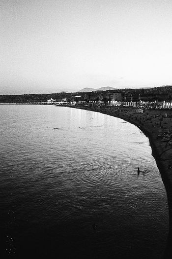 Water Sky Clear Sky Sea Day Waterfront Scenics - Nature Tranquility Building Exterior City Outdoors 35mm Film Blackandwhite