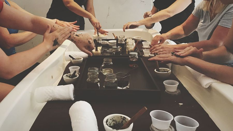EyeEm Selects EyeEm Selects Indoors  Table Human Hand Coffee - Drink Human Body Part Real People Women Togetherness Wireless Technology Teamwork Cooperation Men Technology Drink Working Day Adult Close-up People Spa Travel Scrub Together