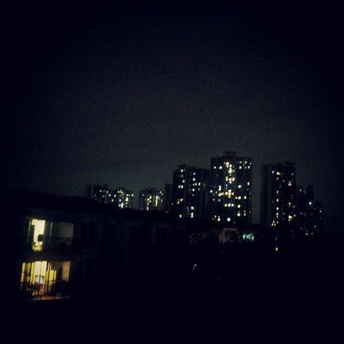 今晚月光有点亮,, 广州 Guangzhou Canton 月光下 番禺 祈福新邨 海晴居