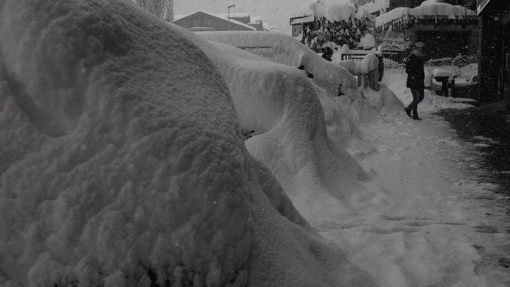 Blackandwhite Principat D'Andorra Snow Streetphotography
