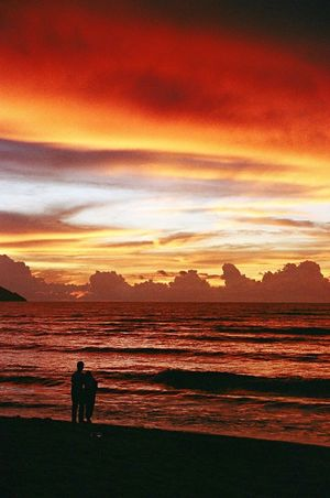 Clouds And Sky Sunset_collection Sunset Golden Hour Beauty In Nature Beach Beachphotography Malaysia Beach Photography Beach Life Beachlife Beach Day Seaside Sea And Sky Seascape Sky_collection Sky And Clouds Cloud RedClouds  Clouds Sky Sea Film Film Photography Nofilter