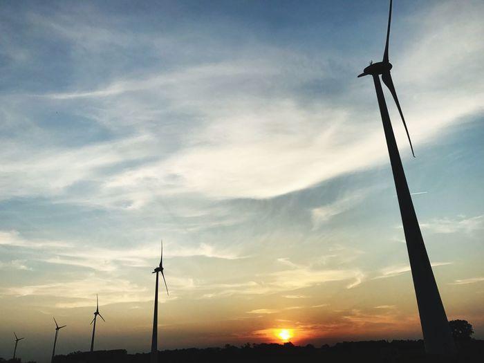 Drivebyphotography Drive Alternative Energy Wind Power Renewable Energy Wind Turbine Silhouette Sunset