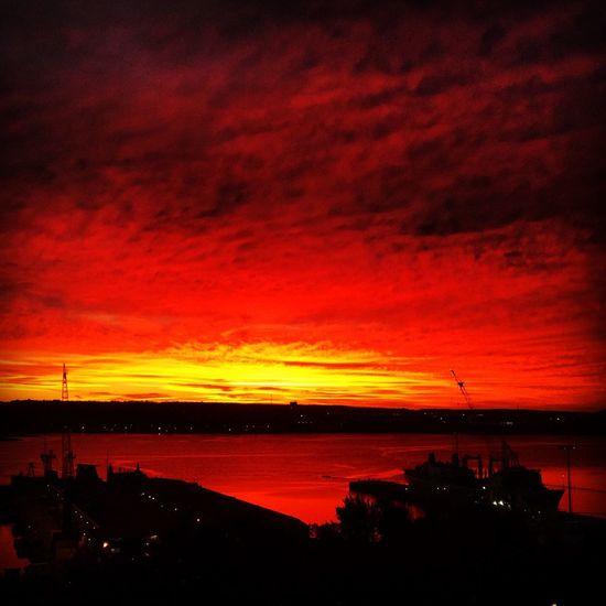 Sun rise at Halifax Harbour, original pic. Original