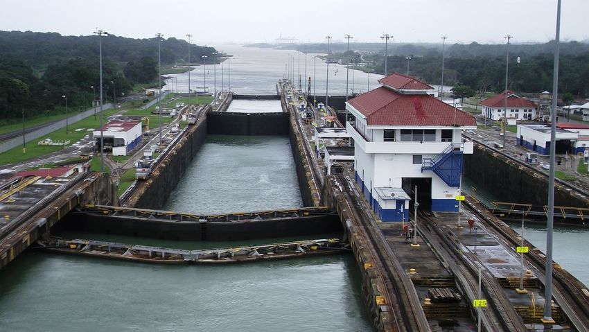 The original non EDITED shot from the Panama Canal Architecture Bridge - Man Made Structure Building Exterior Built Structure Canal City Day Nautical Vessel No People Outdoors Panama Canal Panama City Panamá Sky Steps Transportation Travel Destinations Water