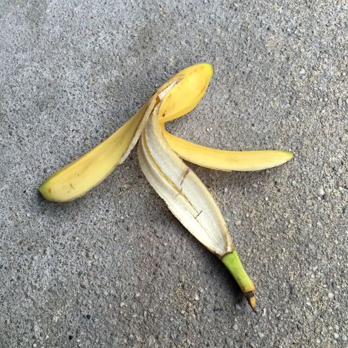 Close-Up Of Banana Peel On Road