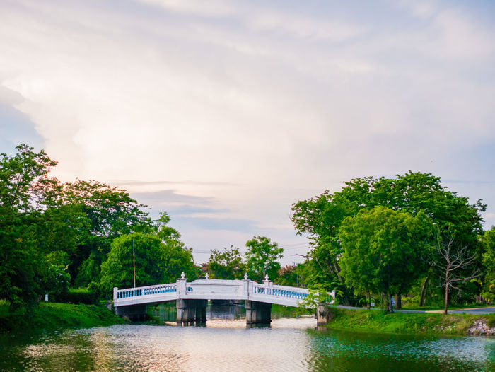 Thai view Plant Water Tree Sky Bridge Cloud - Sky Nature Bridge - Man Made Structure Transportation River Day Built Structure Connection Architecture Nautical Vessel Waterfront Beauty In Nature Mode Of Transportation No People Outdoors Boathouse