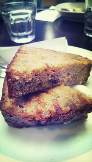 Banana bread toasted with butter and cinnamon...simple but yum! Taking Photos Food Eating Hungry