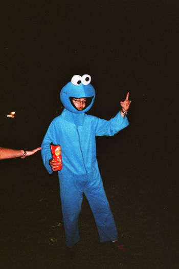 OpenFlair 2014 Boys Childhood Cookiemonster Festival Season Full Length Happiness Indoors  Leisure Activity Looking At Camera Night One Person Onlybirds Openflair2014 People Portrait Real People Smiling Sommergefühle