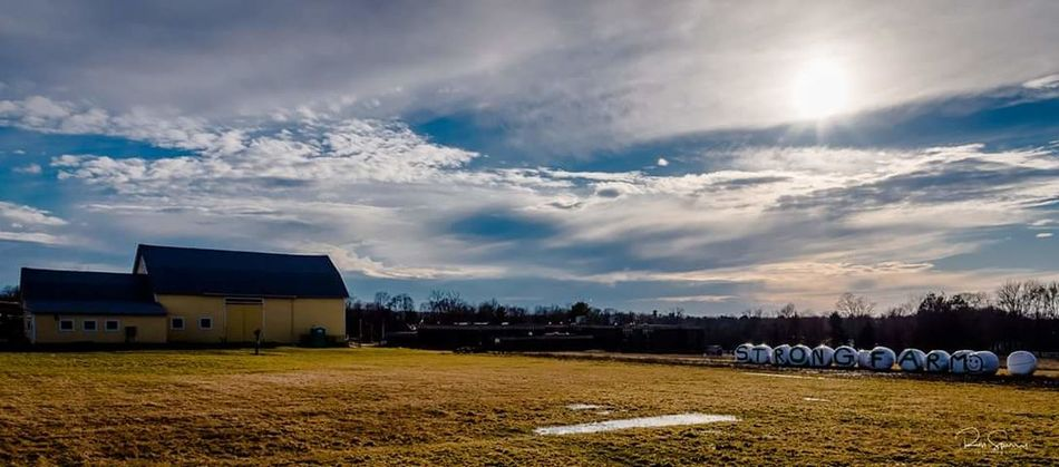 Farm Farm Farm Life Farmland Nikonphotography Nikon Nikond750 Photography Connecticut Out And About Vernon Connecticut Cloud - Sky Sky Landscape Agriculture No People Outdoors Rural Scene Day Nature Building Exterior Built Structure