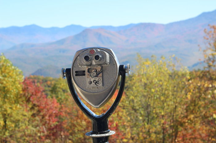 Beauty In Nature Binoculars Close-up Coin Operated Coin-operated Binoculars Day Focus On Foreground Landscape Mountain Mountain Range Nature No People Outdoors Scenics Sky Surveillance Telescope