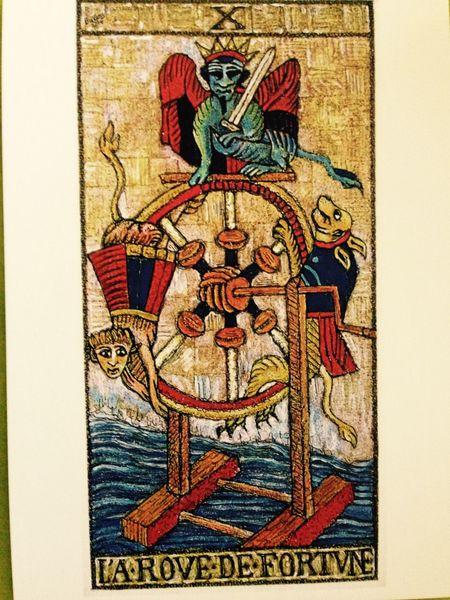Arcane X du tarot de Marseille revisité par un artiste